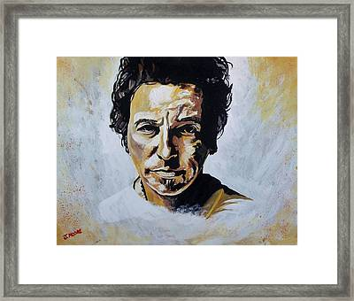 Bruce Springsteen Framed Print by Jeremy Moore