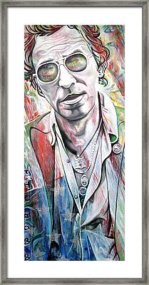 Bruce Springsteen Framed Print by Joshua Morton