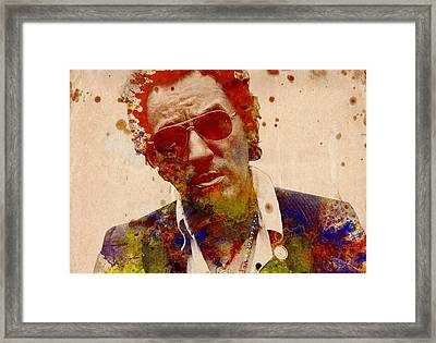 Bruce Springsteen Framed Print by Bekim Art