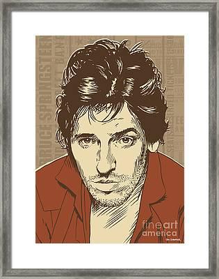 Bruce Springsteen Pop Art Framed Print by Jim Zahniser
