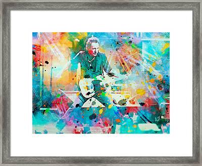 Bruce Springsteen  Framed Print by Rosalina Atanasova