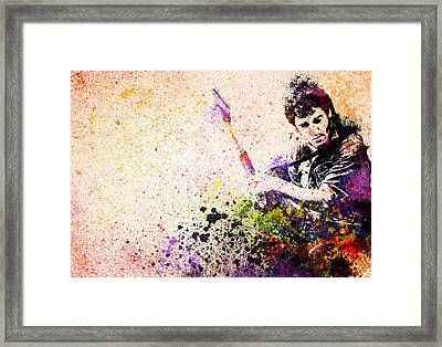 Bruce Springsteen Splats 2 Framed Print by Bekim Art