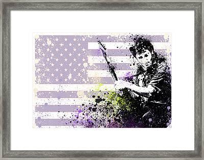 Bruce Springsteen Splats Framed Print by MB Art factory