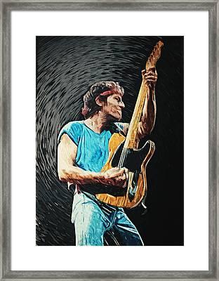 Bruce Springsteen Framed Print by Taylan Apukovska