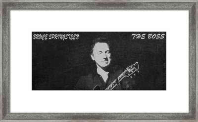 Bruce Springsteen The Boss Framed Print by Dan Sproul