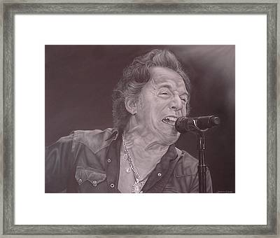 Bruce Springsteen V Framed Print by David Dunne