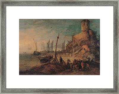 Bruegel Jan The Younger, Sea Landscape Framed Print by Everett
