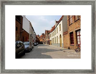 Bruges Side Street Framed Print by Carol Groenen