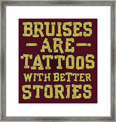 Bruises Are Tattoos Framed Print by Jim Baldwin