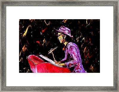 Bruno Mars  Framed Print by Mark Moore