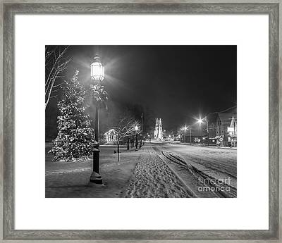 Brunswick Maine Framed Print by Benjamin Williamson