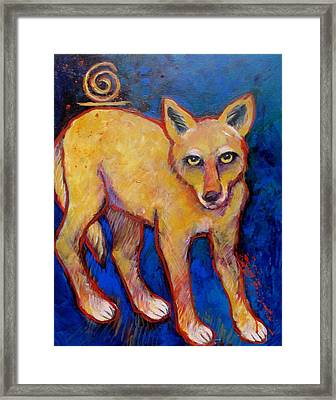 Brush Wolf Coyote Framed Print by Carol Suzanne Niebuhr