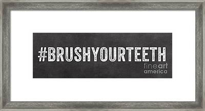 Brush Your Teeth Framed Print by Linda Woods