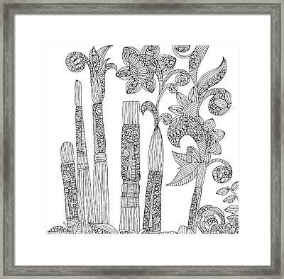 Brushes Framed Print by Valentina Harper