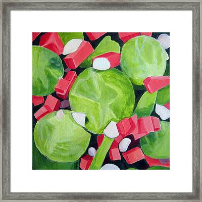 Brussels Sprout Salad Framed Print by Toni Silber-Delerive