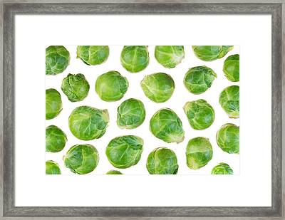 Brussels Sprouts Framed Print by Jim Hughes