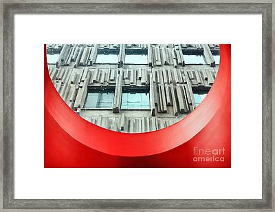 Brutalist Architecture Framed Print by Charline Xia