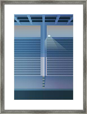 Brutalist Car Park Framed Print by Peter Cassidy