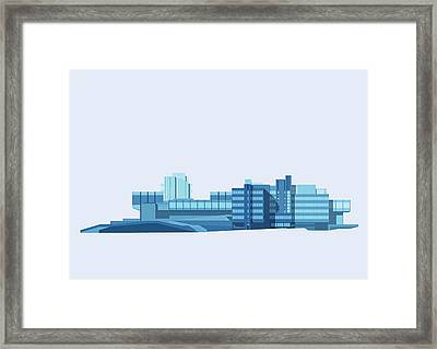 Brutalist Sphinx Framed Print by Peter Cassidy