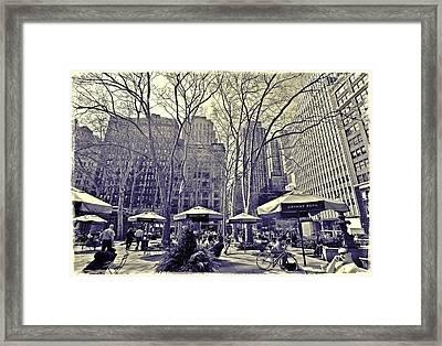 Bryant Park Framed Print by Tony Ambrosio