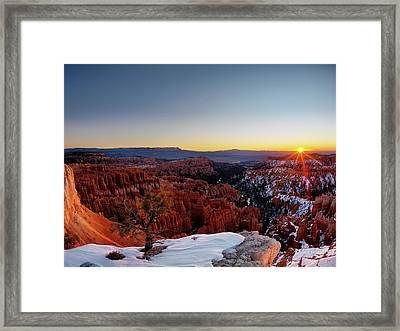 Bryce Canyon Sunrise Framed Print by Leland D Howard