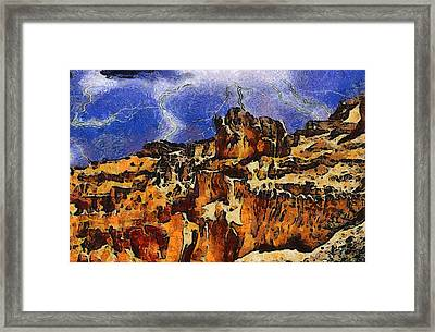 Bryce Canyon Thuderstorm Framed Print by Dan Sproul