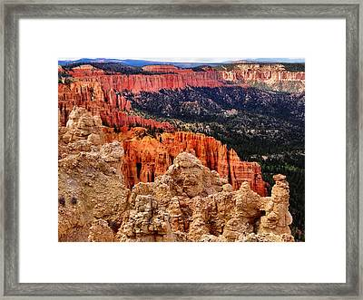 Bryce Canyon Vista Framed Print by Dan Sproul