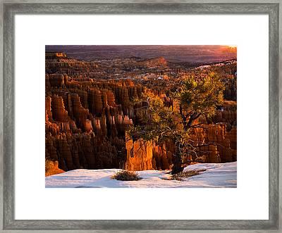 Bryce Canyon Winter Sunrise Framed Print by Leland D Howard