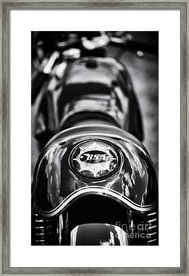 Bsa Cafe Racer Monochrome Framed Print by Tim Gainey