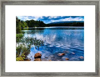 Bubb Lake In The Adirondacks Framed Print by David Patterson