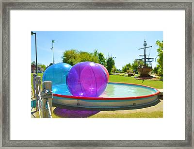 Bubble Ball 2 Framed Print by Lanjee Chee