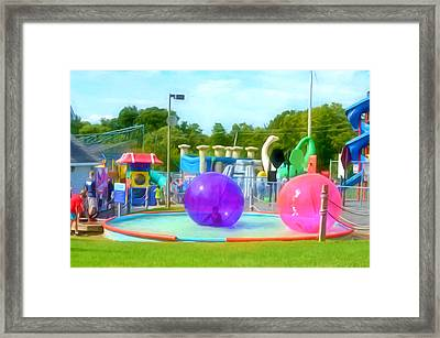 Bubble Ball 4   Framed Print by Lanjee Chee