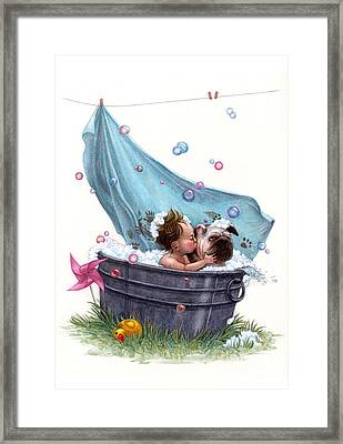Bubble Bath Framed Print by Isabella Kung