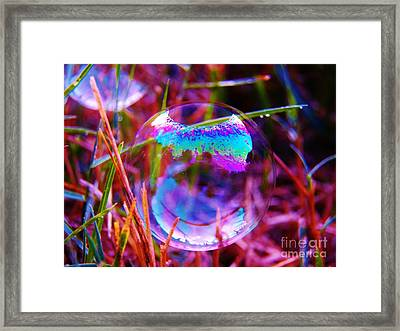 Bubble Illusions 2 Framed Print by Judy Via-Wolff