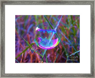 Bubble Illusions 3 Framed Print by Judy Via-Wolff