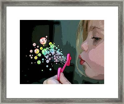 Bubble Magic Framed Print by Ellen Henneke