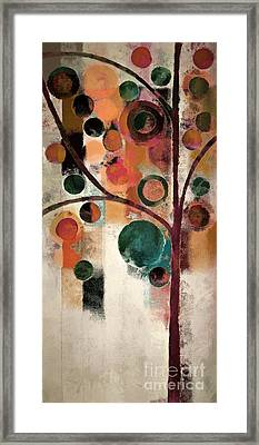 Bubble Tree - J08688 Framed Print by Variance Collections