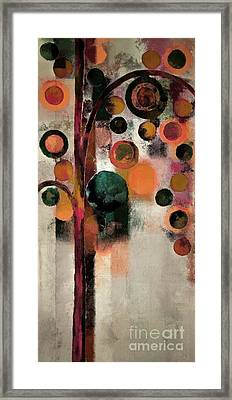 Bubble Tree - J08688b Framed Print by Variance Collections