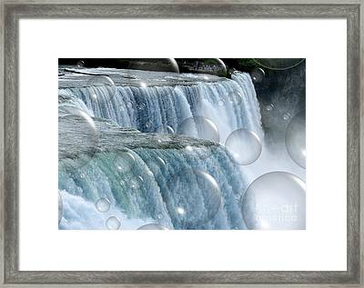 Bubbles Over Niagara Falls Framed Print by Rose Santuci-Sofranko