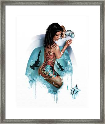 Bubbles Framed Print by Pete Tapang