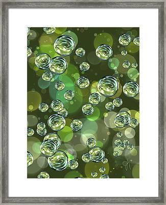 Bubbles Framed Print by Veronica Minozzi