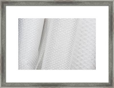 Bubblewrap Framed Print by Tom Gowanlock