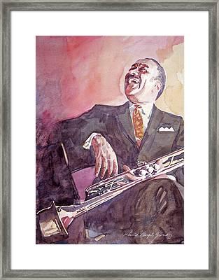 Buck Clayton Jazz Horn Framed Print by David Lloyd Glover