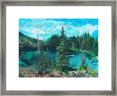 Buck Lake Framed Print by Joseph Demaree