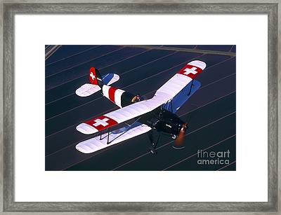 Bucker Jungmann Biplane Flying Framed Print by Phil Wallick