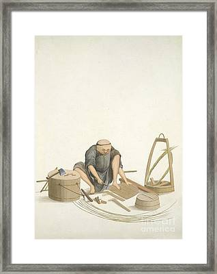 Bucket-maker, 19th-century China Framed Print by British Library