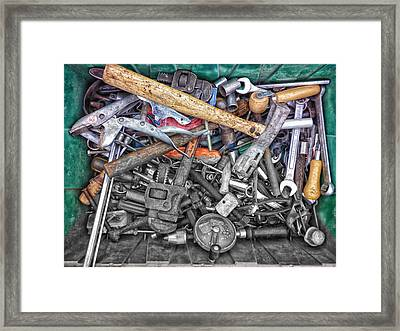 Bucket Of Tools Sc Framed Print by Thomas Woolworth