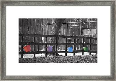 Buckets Framed Print by Tracy Winter