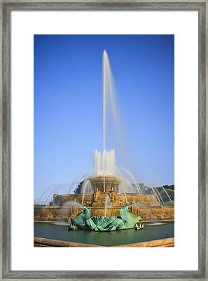 Buckingham Fountain Framed Print by Adam Romanowicz
