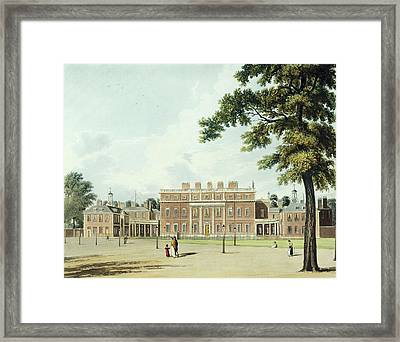 Buckingham House, From The History Framed Print by William Westall